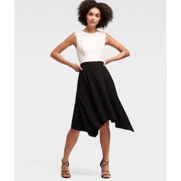 Dkny Dresses & Skirts - DKNY Colorblock Dress with Handkerchief Hem